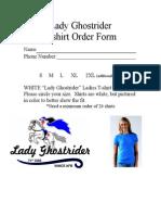 Ghostrider Shirt Order Form