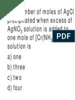 Coordination compound important questions