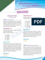 Razonamiento Verbal - Preguntas Examen Admision UNMSM 2011-1