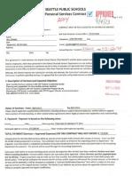 Personal Service Contract STR TIF Mentor Teacher Training