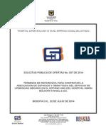 Terminos de Referencia Obra Urgencias 2014i007