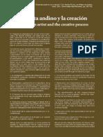 """""""EL ARTISTA ANDINO Y LA CREACIÓN""""- Alba Choque Porras - En Libro Machu Picchu Sortilegio en Piedra"""