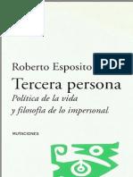 Esposito, Roberto - Tercera Persona