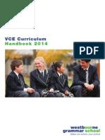 2014 Vce Curriculum Handbook