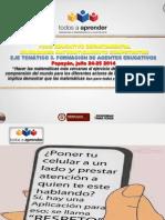 Presentacion Mesa 3-Formacion Agentes Educativos Foro Departamental 2014