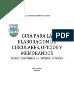 Guia Para La Elaboracion de Circulares Oficios y Memorandos