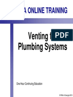 Venting for Plumbing Systems
