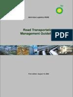 Road Transportation Mangement Guideline Version for SPA Taskforce Comments