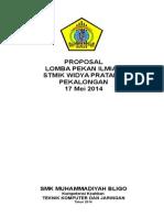 Proposal Pekan Ilmiah Stmik 2014