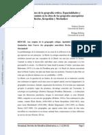 Ferreti - En Los Orígenes de La Geografía Crítica. Espacialidades y Relaciones de Dominio en La Obra de Reclus, Kropotkin y Mechnikov