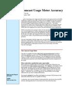 Comcast Usage Meter Report from NetForecast