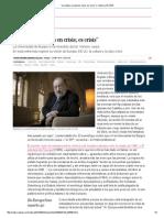 """""""La Cultura No Está en Crisis; Es Crisis"""" _ Cultura _ EL PAÍS"""