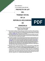 CBarran. Vzla. Proyecto de Ley de Ejercicio del Trabajo Social, 2002