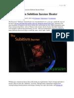 The Kyarazen Subitism Incense Heater