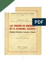 Las Uniones de Empresas en La Economía Fascista - Francesco Vito