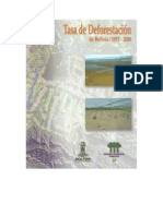 Tasa de Deforestacion de Bolivia 1993-2000