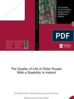 The Quality of Life of Older People With a Disabi,Lity in Irland