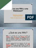 Qué Es Una Wiki y Una WebQuest