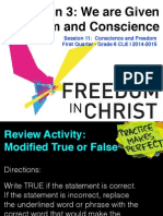 First Quarter Grade 6 Session 11 Freedom and Conscience