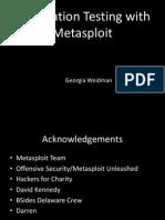 Pentesting with metasploit