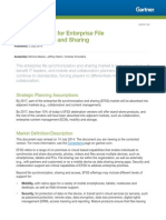 Gartner Magic Quadrant for Enterprise File Synchronization and Sharing