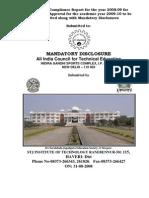 Mandatory Disclosures 2008 09 Aug2008