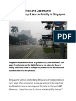 34 Risk and Opportunity of Transparency and Accountability in Singapore