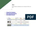 Use the PAS Database