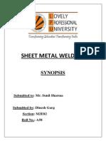 Term Paper-sheet Metal Welding