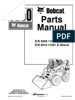 bobcat s250 parts manual Bobcat Skid Steer Wiring Diagram