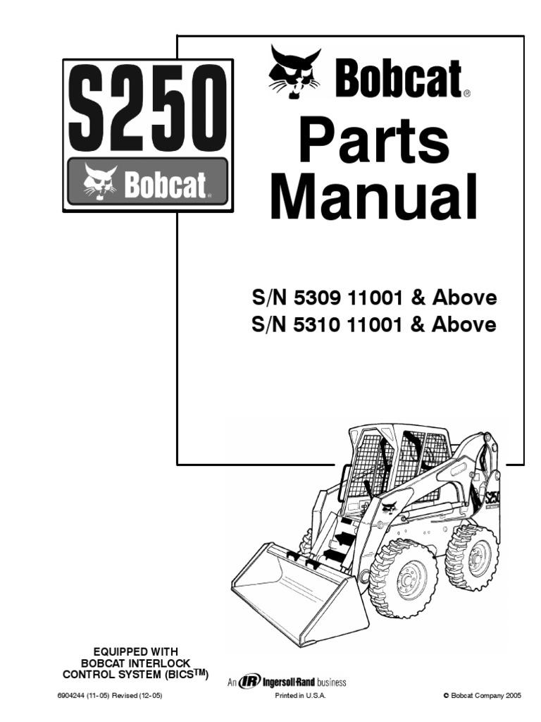 Bobcat S250 Wiring Schematic 28 Diagram Images 843 Parts Manual 1510932140v1 At Cita