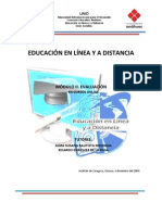 Modulo II-V Evaluacion en Cursos Online