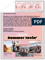 pbp summer newsletter 2014