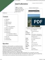 Brookhaven National Laboratory - Wikipedia, The Free Encyclopedia