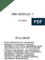 Irm Module 1