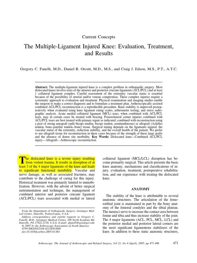 Ligament Knee Tear   Knee   Limbs (Anatomy)