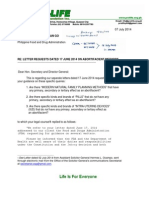 FDA Series 2 letters on Safety of Contraceptives