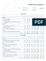 printable nutrition report for agathapcc