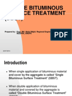 Double Bituminous Surface Treatment (Dbst)