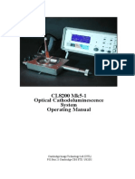 Cathodoluminescence spectroscopy  Manual