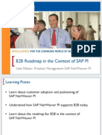B2B Roadmap in the Context of SAP PI