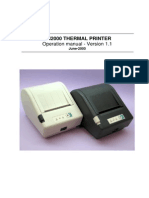Fenix Imvico SM2000 v1.1 Thermal Printer Operation Manual