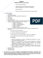 Guidelines for M. Tech Thesis Report