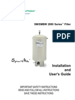 Pentair_SM & SMBW 2000 Series Filter _Installation Manual