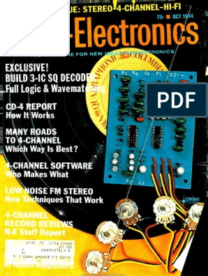 RE - 1974-10 | Loudspeaker | Electrical Engineering