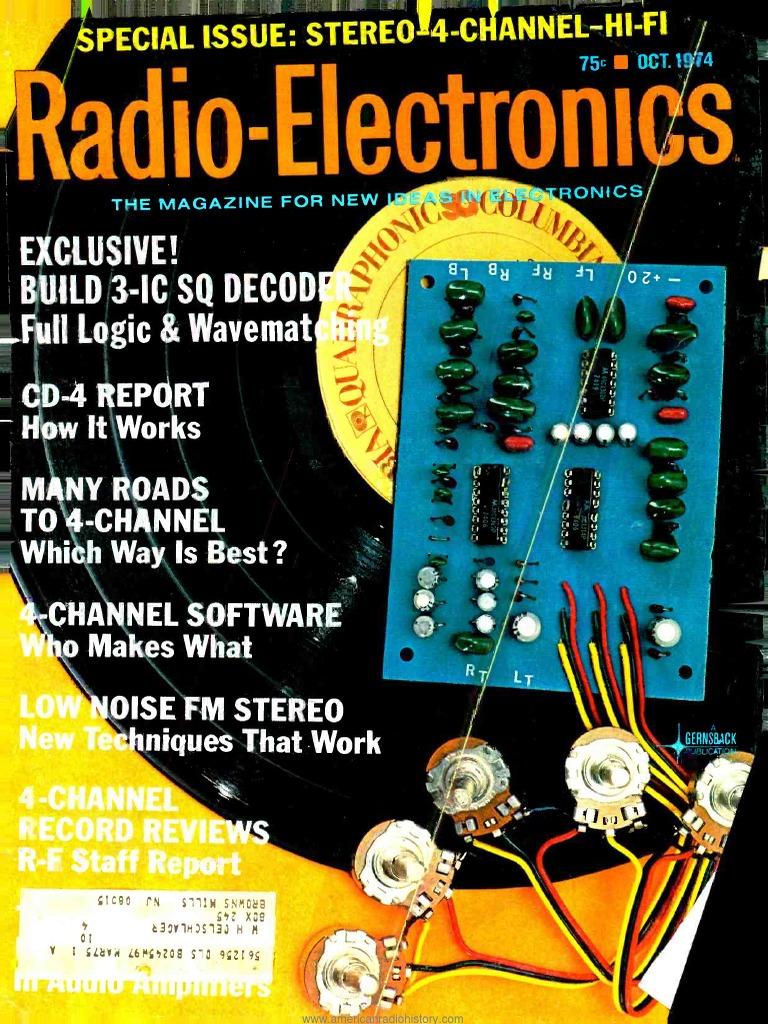 Re 1974 10 Loudspeaker Electrical Engineering Coilless Fm Transmitter