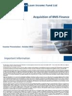 Bms Finance Acquisition 07-11-2012