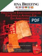 Persönliche Einkommenssteuer für Expats & Antrag für ein Arbeitsvisum (China Briefing 2009 01)