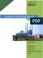 NTPC Faridabad Summer Internship Report