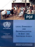 Local Democracy and Decentralization in East and Southern Africa